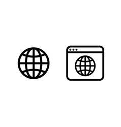 web icons in trendy flat style vector image