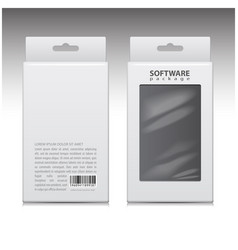 white cardboard box set package for vector image