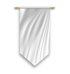 White textile banners and flags vector