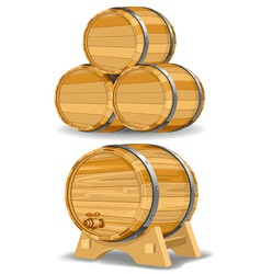 Wine barrel vector