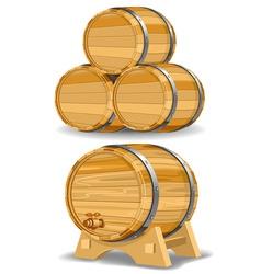 Wine barrel vector
