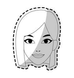 Young pretty woman icon image vector