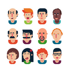 avatar people set vector image