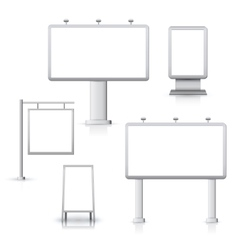 Blank advertising boards vector image vector image