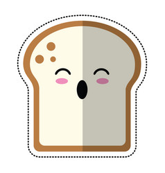 cartoon slice bread bakery vector image