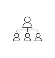 hierarchy thin line icon linear vector image