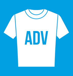 t-shirt with print adv icon white vector image
