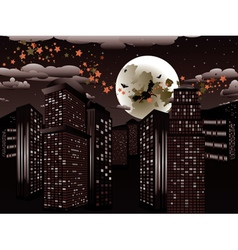Witch is Coming to the City5 vector image vector image