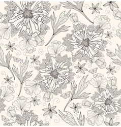 abstract floral pattern seamless flowers pattern vector image vector image