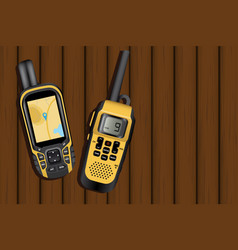navigator and walkie-talkie vector image