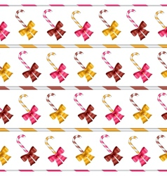 Valentine seamless pattern of glossy bows and vector image vector image