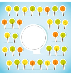 Abstract paper forest with banner vector image