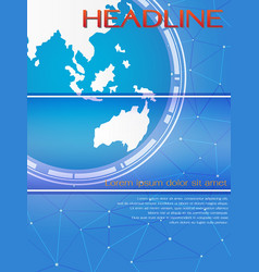 blue global template for brochure or magazine cove vector image
