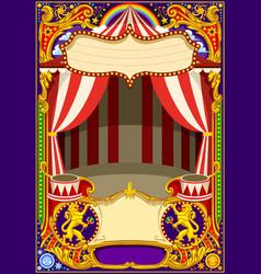 circus card template vector image
