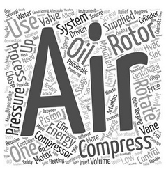 What You Need To Know About Compressed Air Systems vector image