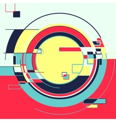 Abstract geometric retro colourful background vector image vector image