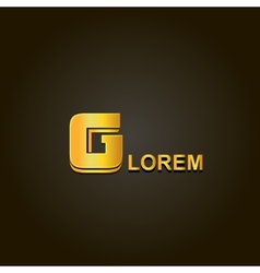 Beautiful graphic gold alphabet letter G symbol vector image