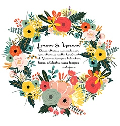 Flower with typography design templates background vector image vector image