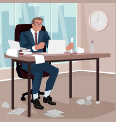 furious businessman in office vector image vector image
