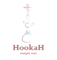 Hookah silhouette outline vector image vector image