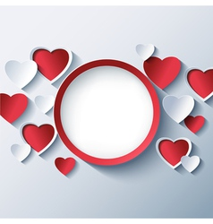 Love background Valentines day frame 3d heart vector image vector image
