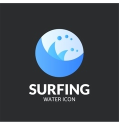 Surfing logo template vector image
