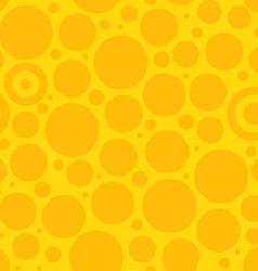 Yellow Circle Pattern vector image vector image