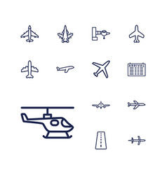 13 airline icons vector
