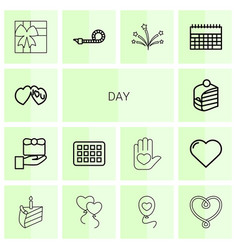 14 day icons vector image