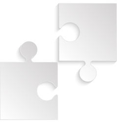 2 Puzzles Grey Pieces JigSaw Background vector image