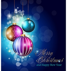 2015 merry christmas and happy new year flyer vector
