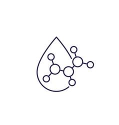 Acid drop icon line vector
