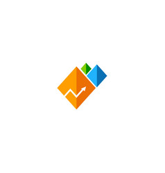 arrow business progress company logo vector image