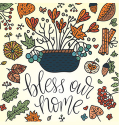 autumn lettering card vector image