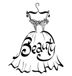 Beauty dress vector image