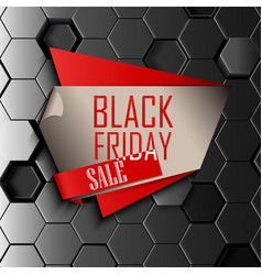 Black friday sale design template with gray vector