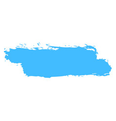Blue brushstroke paint vector