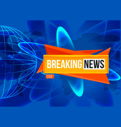 Breaking news screen vector