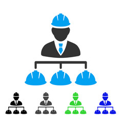 Builder management flat icon vector