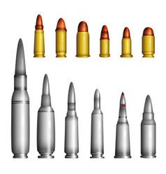 Bullet casings - modern realistic isolated vector