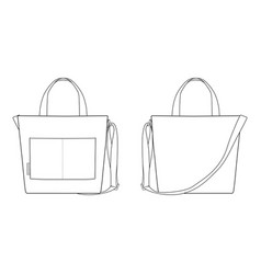 Canvas tote bag fashion design template10 vector