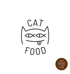 Cat face logo vector image