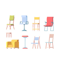 chairs flat modern furniture elegant chairs vector image