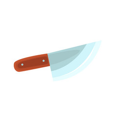 chef knife with wooden handle kitchen utensil vector image