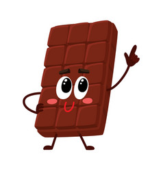 chocolate bar character with funny face speaking vector image vector image