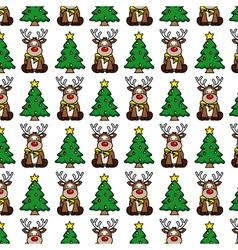 Christmas background Reindeer vector image
