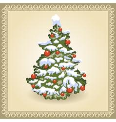Christmas tree 10 vector image