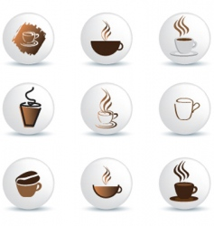 coffee buttons vector image vector image