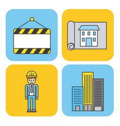 collection under construction tools repair vector image