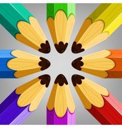 Color Pencils Collection vector image
